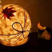 月山和紙でランプシェードづくり
