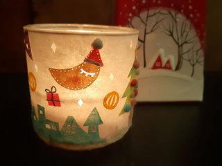 月山和紙でクリスマスのぼんぼりづくり