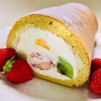 美味しいお菓子を手づくりする:フルーツロールケーキ