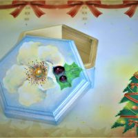 トールペイントでクリスマスボックスをつくる